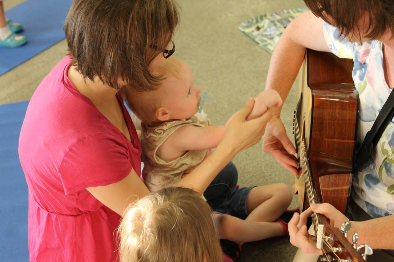 Sprouting Melodies with mom and baby